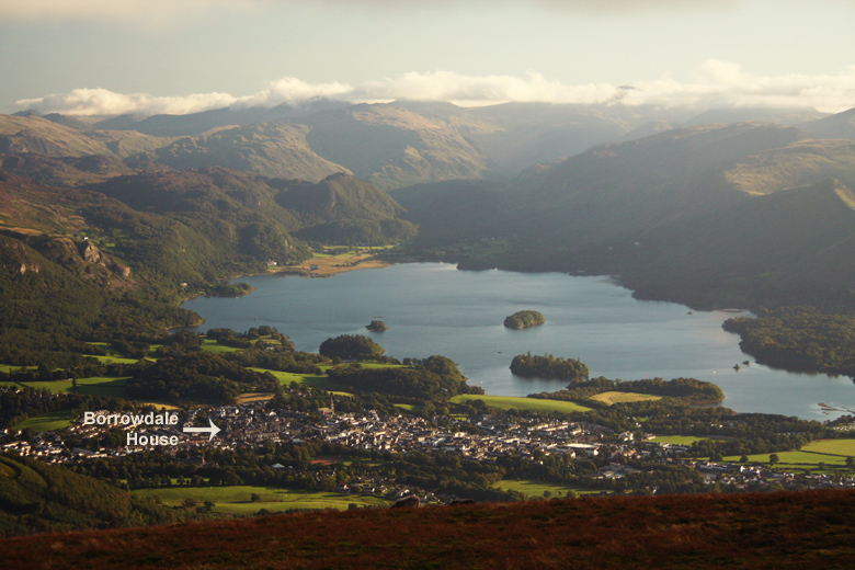 Borrowdale House from Skiddaw